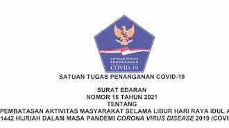 Satgas COVID-19 Terbitkan Edaran Pembatasan Kegiatan Masyarakat di Masa Libur Iduladha 2021