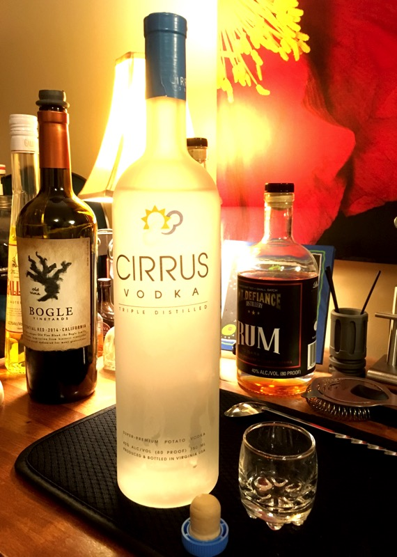 Cirrus vodka 750ml