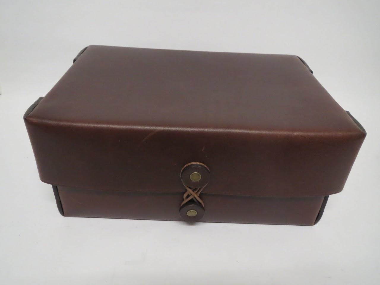 Coach Leather Desk Box
