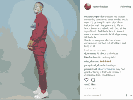What Vector said about his father's death