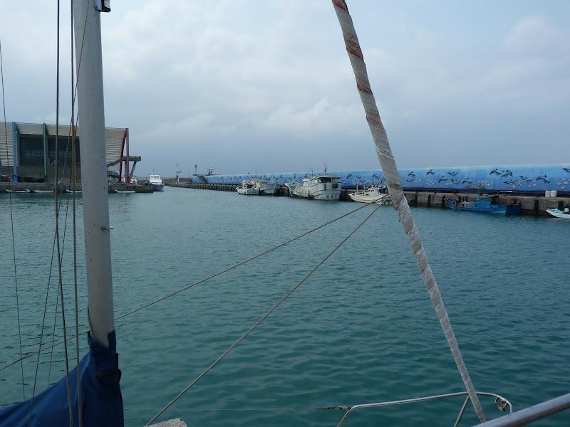 un voilier ,c'est  rare à Taïwan...
