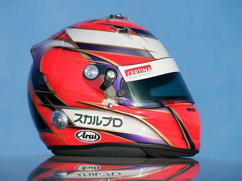 可夢偉ヘルメット2010サイド