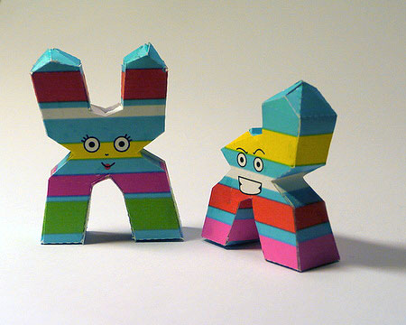 XY Chromosome Papercraft