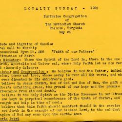 1962-05 Loyalty Sunday