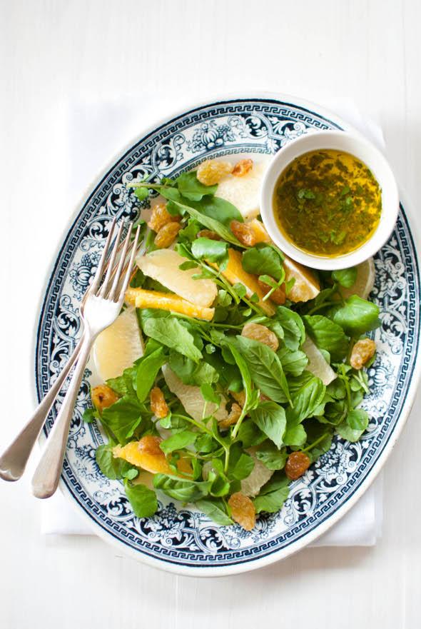 Scandi Home: Watercress and citrus salad