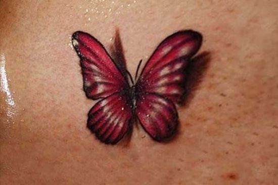 vermelho_3d_tatuagem_de_borboleta