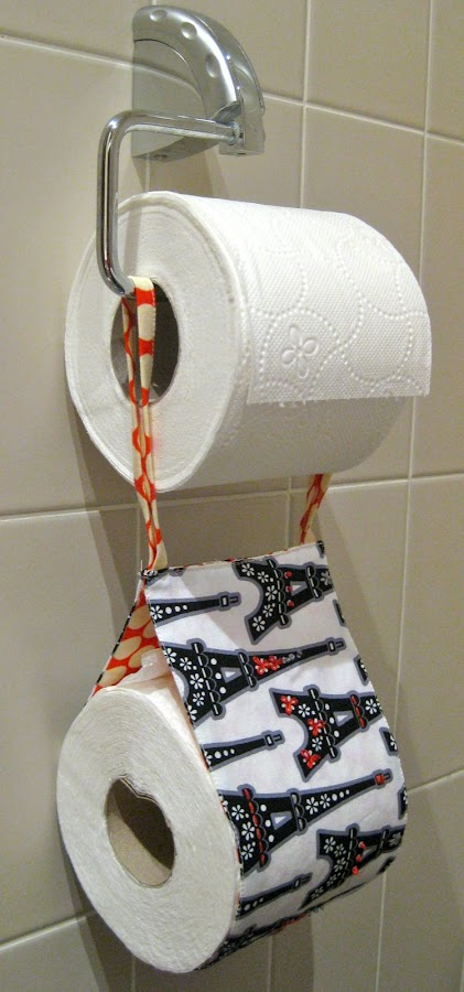 Embroidered Spare Toilet Roll Holder Tutorial Sewn Up