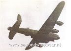 Lancaster bomber with open bomb bay. Operation manna, Holland April / May 1945.