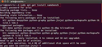 namebench1 Cara Termudah Mencari DNS Tercepat Dengan Namebench di Ubuntu 11.10