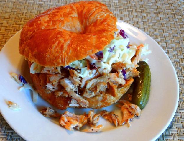 BBQ salmon croissant