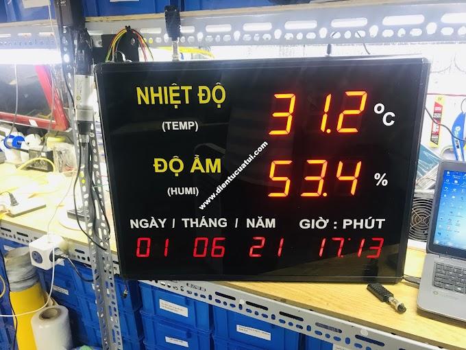 Đồng hồ led đo nhiệt độ độ ẩm - Thời gian thực - eChipKool SHOP