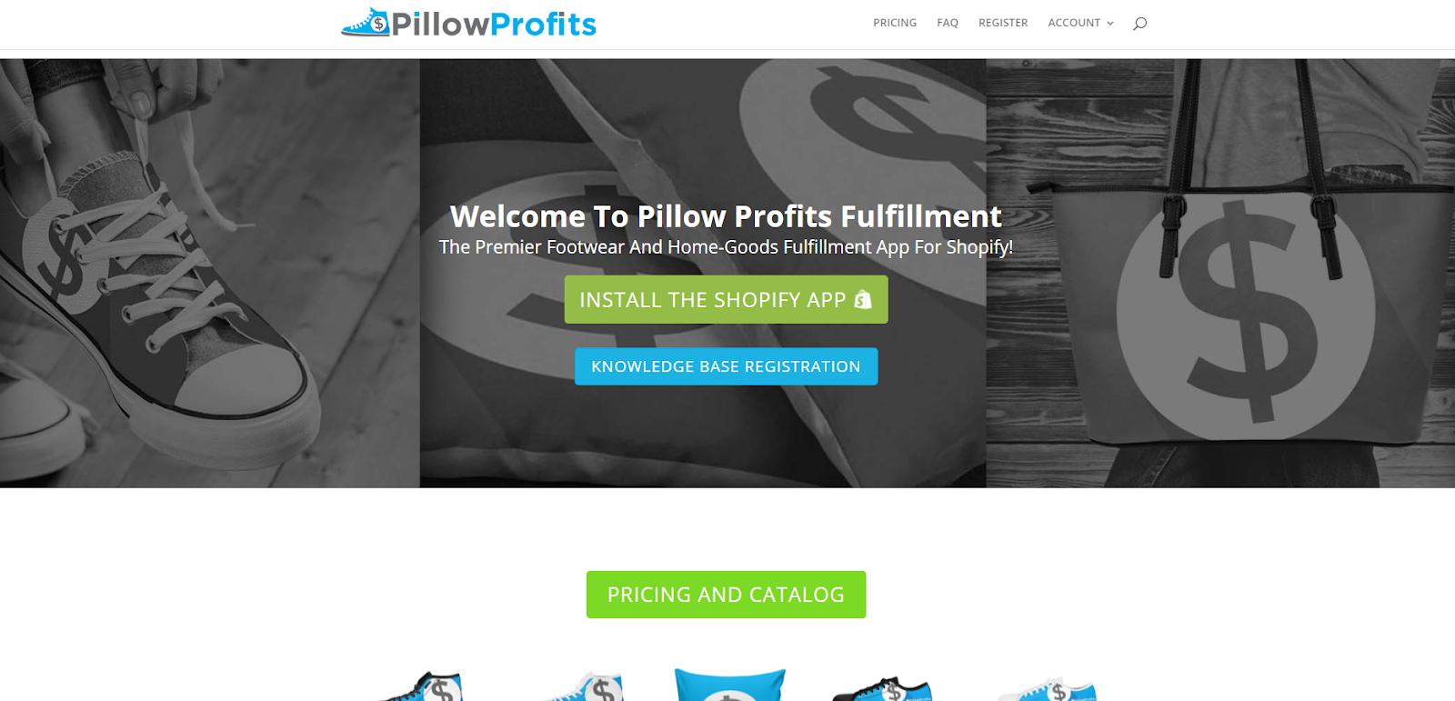 pillow profits dropshipping app