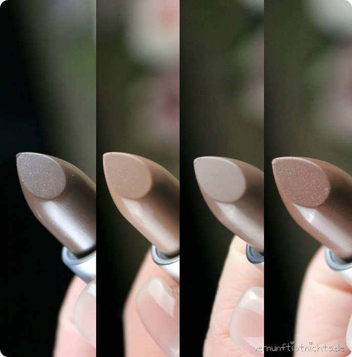 MAC ColorRocker ColourRocker LE Limited Edition Bunnybeams Evening Buzz Digging It Secret # Cold Hard Cash Gritty Girl Mud Wrestler Feeling Fizzy Lipstick Lippenstift Review Swatches Tragebilder zsm1