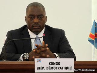 Joseph Kabila Kabange, président congolais le 14/10/2012 au palais du peuple à Kinshasa, lors de la conférence de presse marquant la clôture du 14ème sommet de la francophonie. Radio Okapi/ Ph. John Bompengo