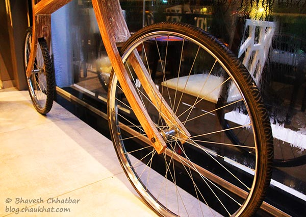 Bicycle Decor at Frisco, Koregaon Park, Pune