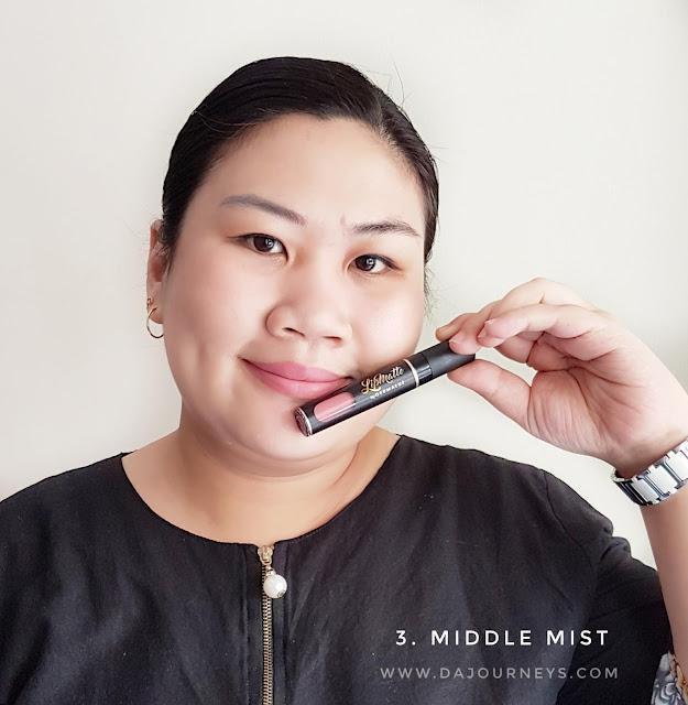 Review Lip Matte Middle Mist by Dermaluz