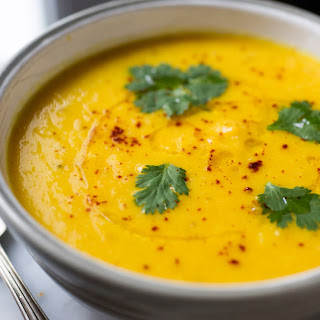 Lemony Carrot and Cauliflower Soup