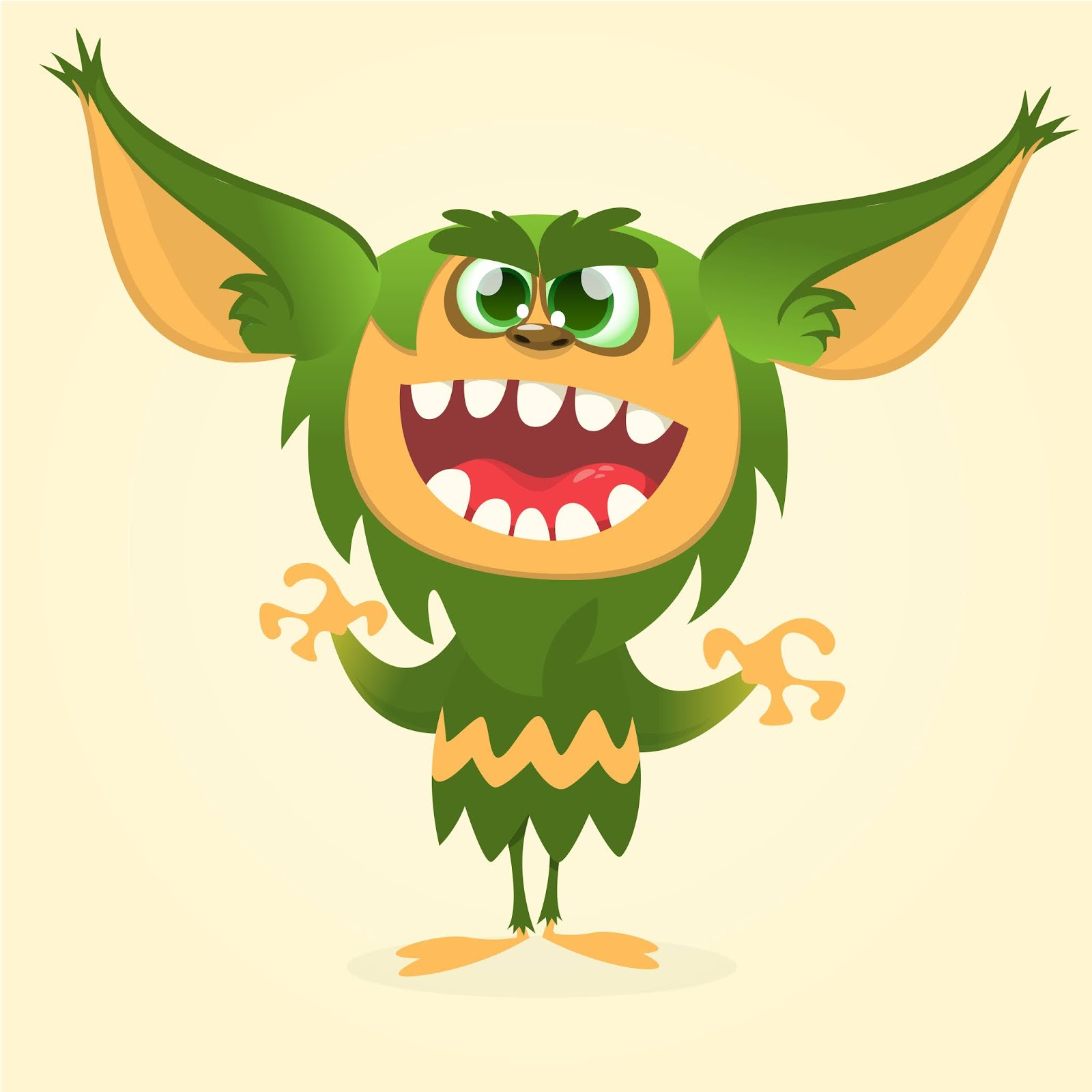 Cartoon Funny Monster Illustration Cool Free Download Vector CDR, AI, EPS and PNG Formats