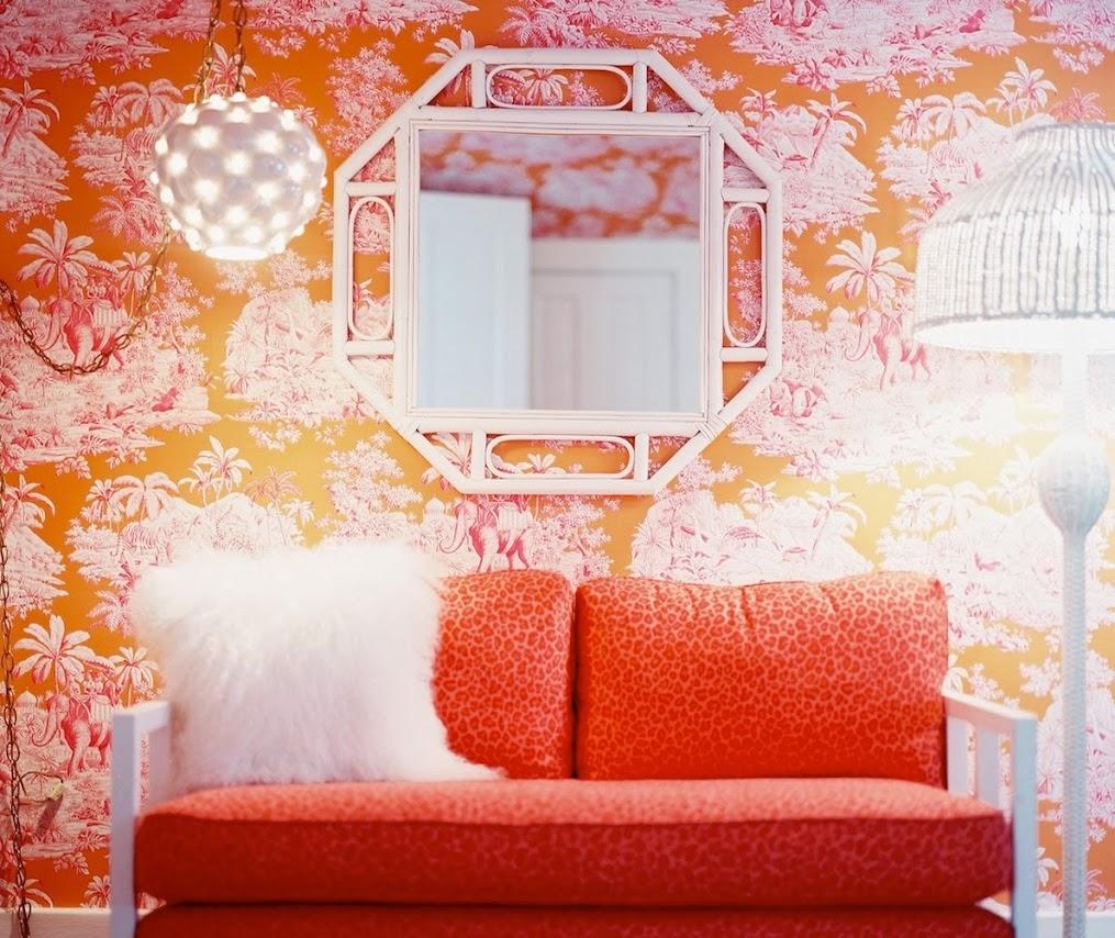 Tienda online telas papel incre bles dormitorios con paredes naranjas y fresas - Catalogo papel paredes ...