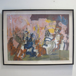 Wright Signed Abstract Painting