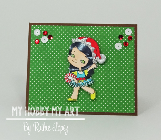 Latinas Arts and Crafts - Pop Up card -Christmas Card - Ruthie Lopez 2