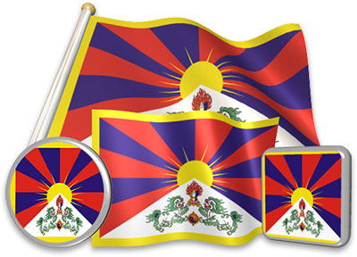 Tibetan flag animated gif collection
