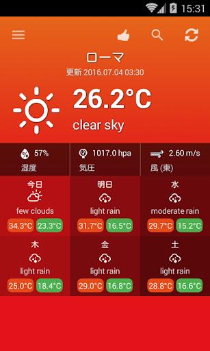 天気イタリア