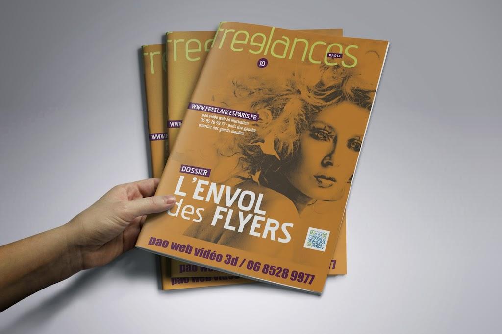 magazine Freelances PAO L'envol des flyers