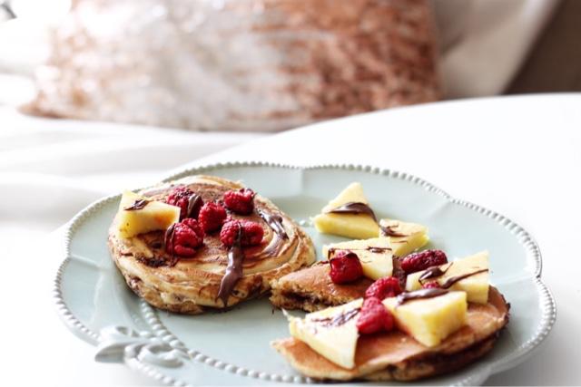 Gefüllte Pancakes mit Nutella