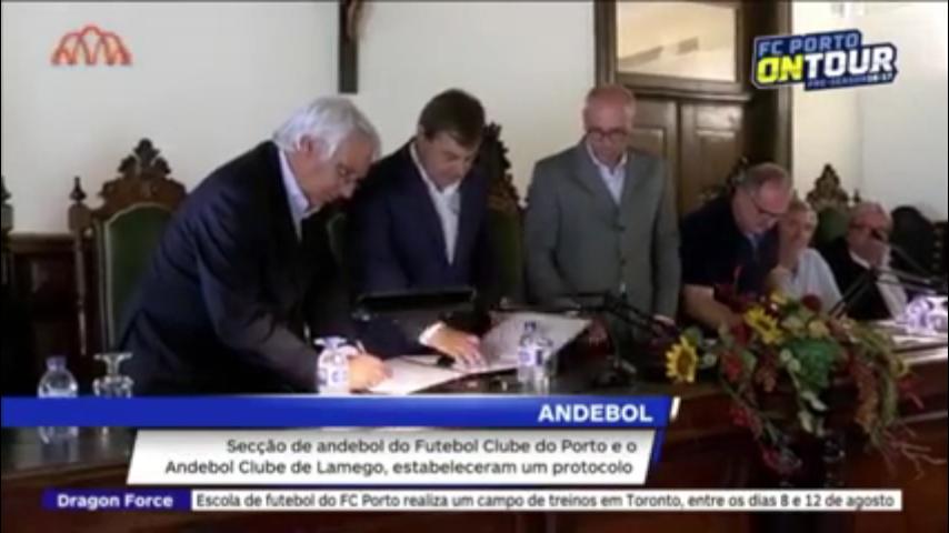 Vídeo - Andebol Club de Lamego assina protocolo com Futebol Clube do Porto