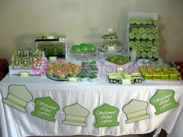 Dessert Table Lebaran Idul Fitri Sweet Corner