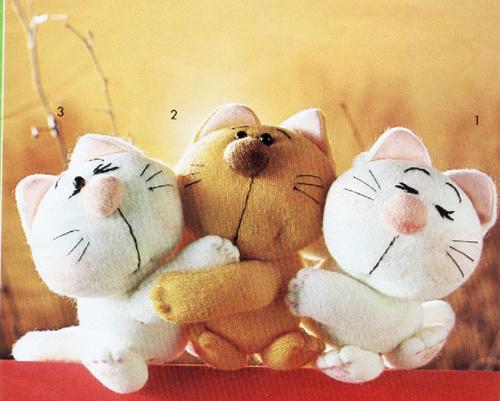 gatinhos de tecido