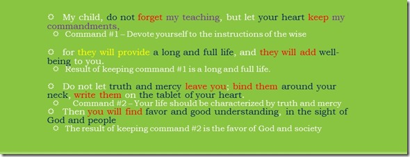 Proverbs 3.1-10 Summary 1