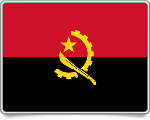 Angolan framed flag icons with box shadow