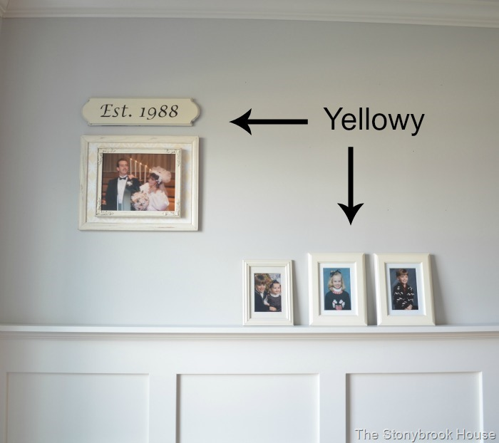 Yellowy Picture Frames