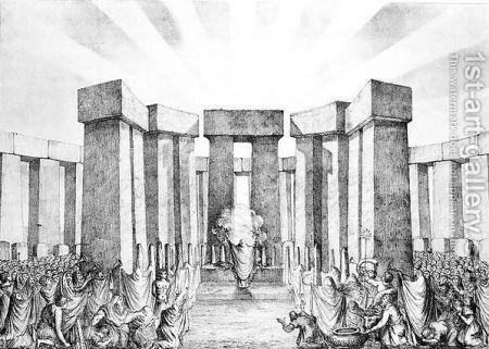 Druids Sacrificing To The Sun, Celtic And Druids