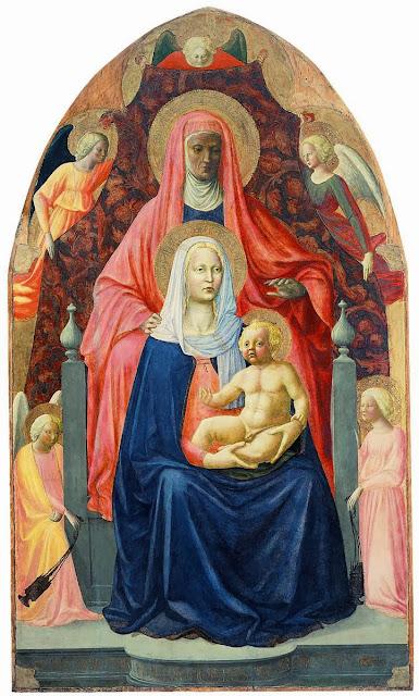 Masolino da Panicale - Sant'Anna Metterza