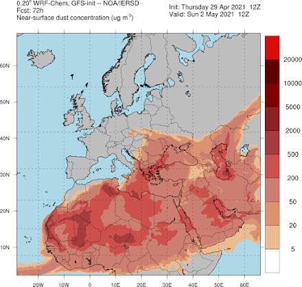 Αυξημένες συγκεντρώσεις Αφρικανικής σκόνης αύριο στη χώρα - Η θερμοκρασία διατηρείται σε υψηλά επίπεδα για την εποχή