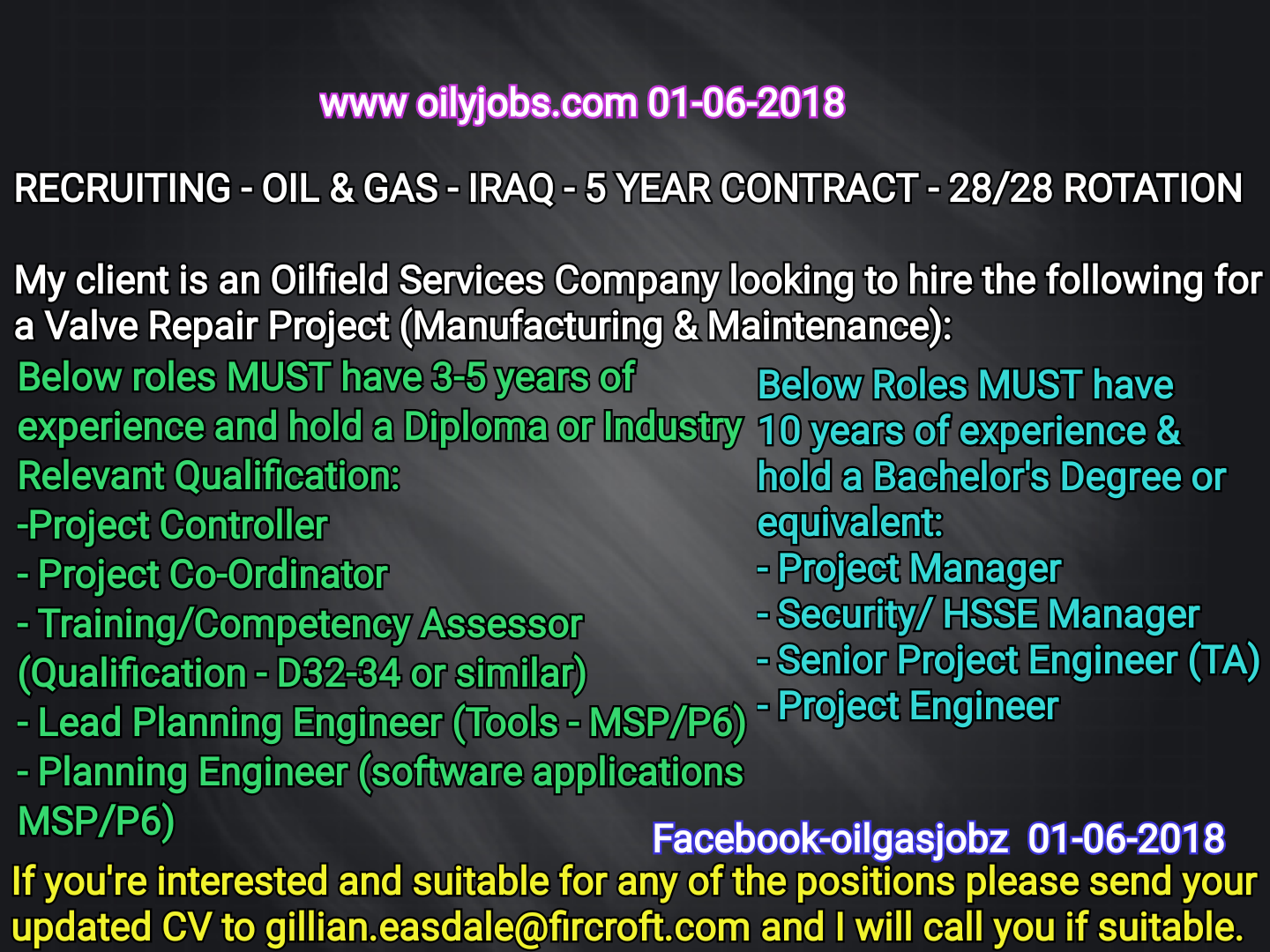 Oil and Gas Jobs: 28/28 Rotational Oilfield service Company Jobs