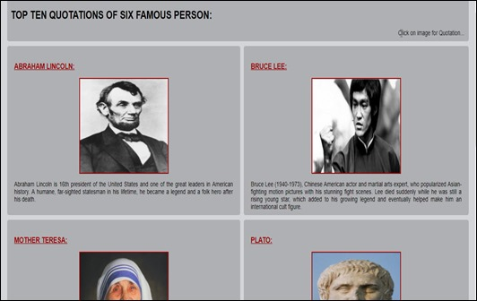 TOP TEN QUOTATIONS OF SIX FAMOUS PERSON