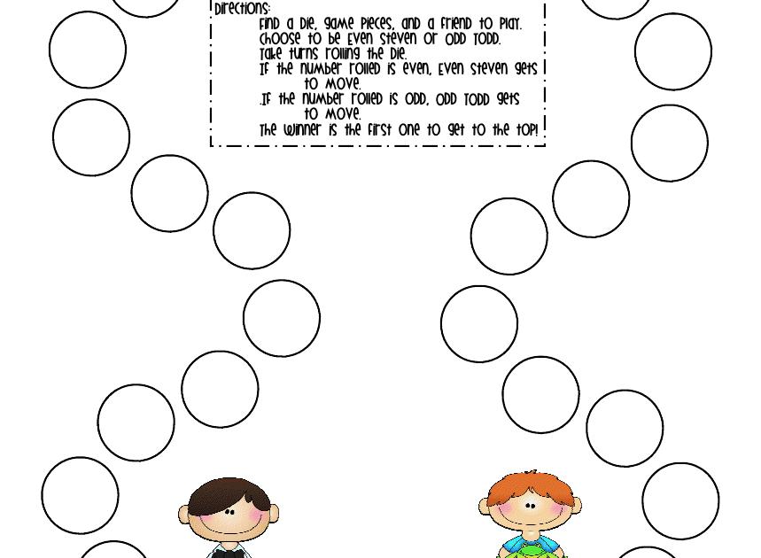 First Grade a la Carte: Even Steven, Odd Todd
