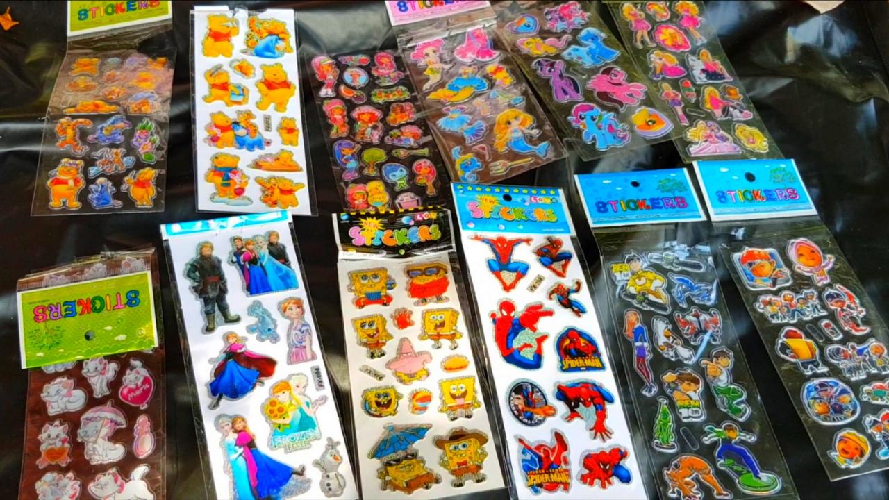 Mainan Jual Jualan 💖 Mainan Anak Murah Sticker Semua Karakter 💚 Nafis Jadi Penjual Stiker
