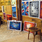 Khaled's gallery, a special painting we had made for Scuba Support