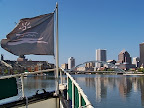 Mary Jemison flag and downtown view