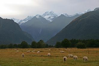 Photo: Mt. Tasman und Mt. Cook