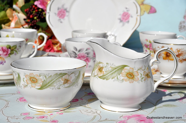 Duchess Greensleeves vintage cream jug and sugar bowl