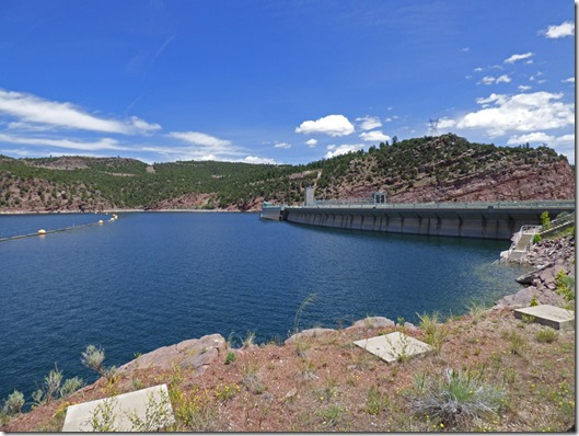 Flaming Gorge Reservor and  Flaming Gorge Dam