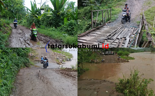 Jalan Akses 3 Desa di Kecamatan Simpenan Sempat Lumpuh Akibat Luapan Sungai Cikopeng