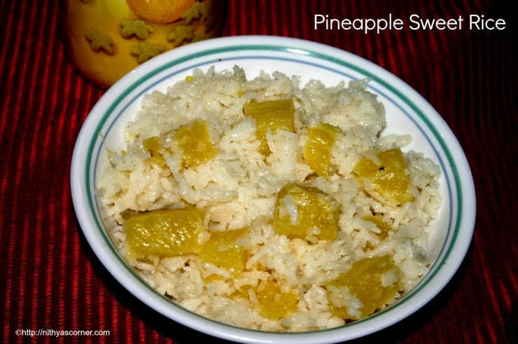 Pineapple Sweet Rice recipe