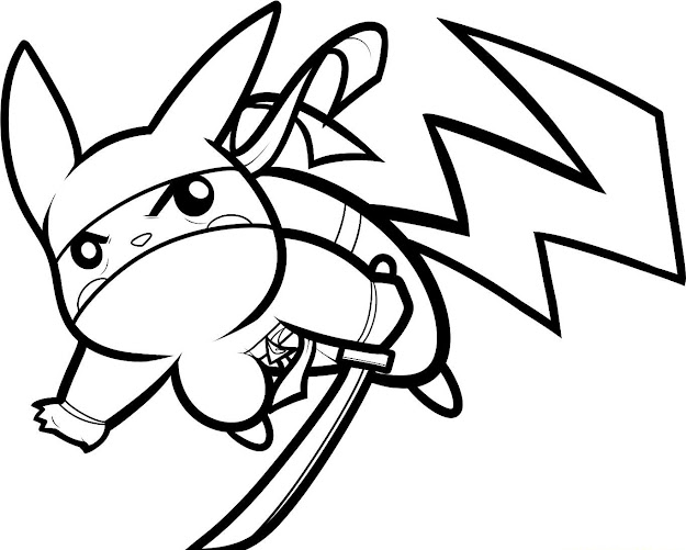 On Pikachu Coloring Pages